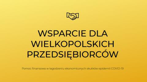 Wsparcie dla wielkopolskich przedsiębiorców